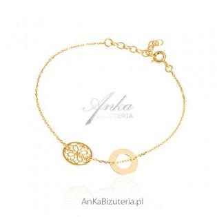Biżuteria srebrna - Bransoletka srebrna z delikanymi ażurowymi przywieszkami