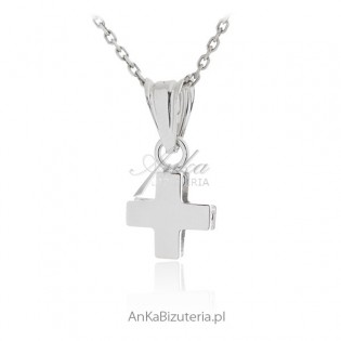 Krzyżyk srebrny rodowany Biżuteria srebrna