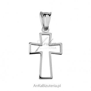 Krzyżyk srebrny Dewocjonalia