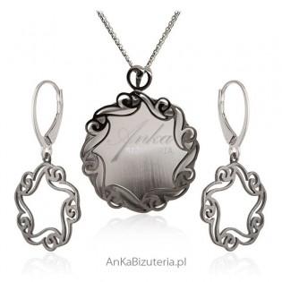 Biżuteria srebrna - Koronkowy komplet