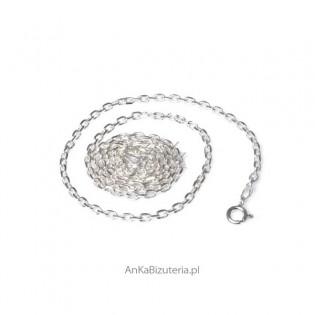 Łańcuszek anker diamentowany 0,5  - 60 cm Łańcuszek srebrny