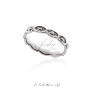 """Pierścionek srebrny """"Oczko"""" -subtelna biżuteria"""
