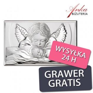 Dewocjonalia Pamiątka dla dziecka Aniołek 15 cm/9 cm