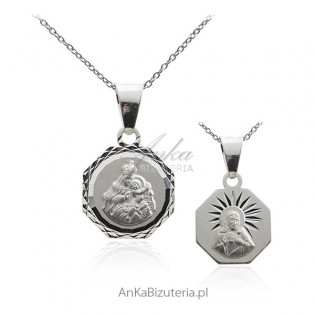 Matka Boska Szkaplerzna - Medalik srebrny