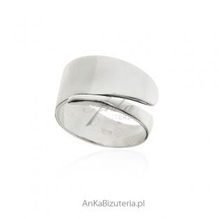 Pierścionek srebrny - szeroka obrączka