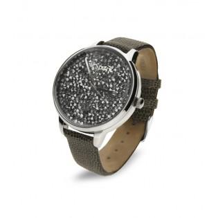 Zegarek damski  z kryształami Swarovski  CRONO GREY