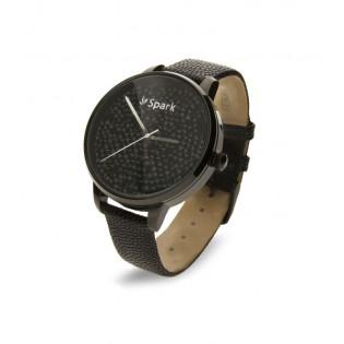 Zegarek damski z kryształami Swarovski  CRONO BLACK