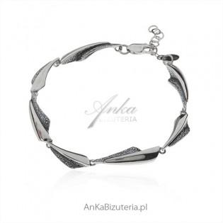Biżuteria srebrna oksydowana Bransoletka srebrna