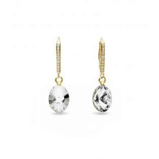 Biżuteria srebrna Swarovski  - kolczyki srebrne pozłacane