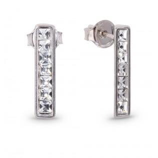Kolczyki srebrne z kryształami Swarovski na wkrętkach