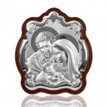 Picture with the Holy Family - silver - beautiful devotions. ENGRAVER