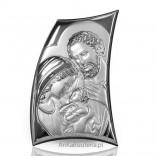 Silver Souvenir-Holy Family bent over a child. ENGRAVER