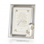 Silver frame for photo 9x13 Gift for Baptism Engraving
