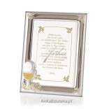 Silver frame for photo 9 * 13 - Gift of Holy Communion GRAWER