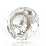A beautiful big crystal with a silver motif for Baptism - a great souvenir.