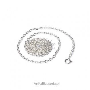 Łańcuszek srebrny Anker diamentowany 0,25 - Delikatny łańcuszek do zawieszek