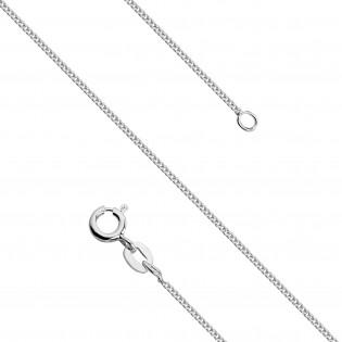 Naszyjnik srebrny pleciony 42cm - oksydowany, włoski w formie łańcuszka