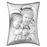 Silver Souvenir - Holy Family - silver picture with the GRAWER FREE certificate