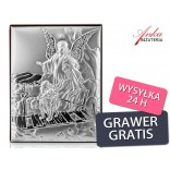 Silver picture - Guardian Angel - Gift for Children: Baptism, Communion, Anniversary-GRAWER