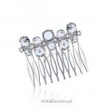A hair comb with crystals - very fashionable this season.