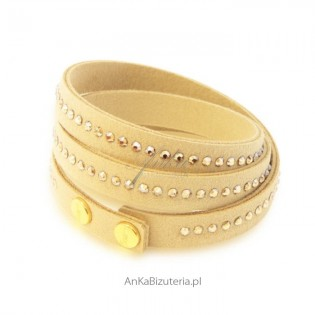 Biżuteria Swarovski Bransoletka -  beżowa