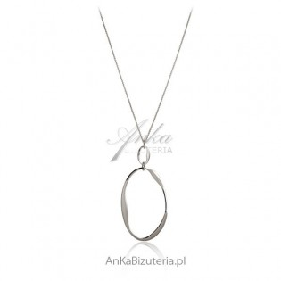 Biżuteria srebrna  - długi naszyjnik srebrny