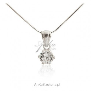 Biżuteria srebrna -Wisiorek srebrny cyrkonie