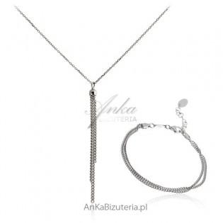 Komplet biżuterii srebro włoskie