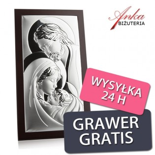 Obrazek srebrny Święta Rodzina 15 cm *26 cm