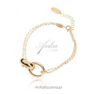 Bransoletka srebrna pozłacana Biżuteria włoska