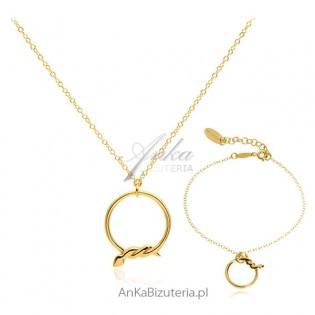 Komplet biżuterii włoskiej Srebro pozłacane