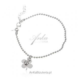 Bransoletka srebrna Biżuteria damska