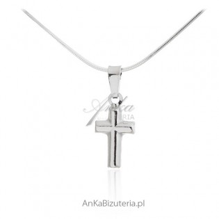 Krzyżyk srebrny Biżuteria srebrna