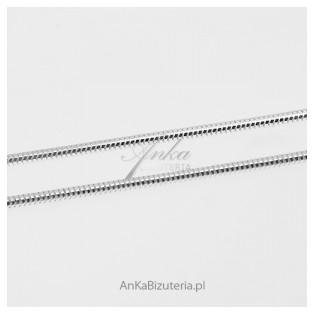Łańcuszek srebrny rodowany gruba linka  Snake - 55 cm, 60 cm, 70 cm, 80 cm