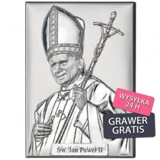 Jan Paweł II Papież Obrazek srebrny