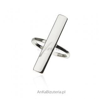 Oryginalna biżuteria srebrna -  pierścionek