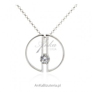 Elegancka biżuteria srebrna  - Naszyjnik Art Deco