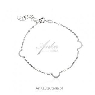 Srebrna bransoletka - Oryginalna biżuteria damska