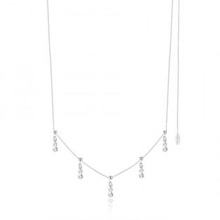 Biżuteria ślubna - Naszyjnik srebrny z cyrkoniami - Biżuteria włoska