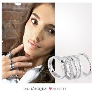 Komplet pierścionków srebrnych z cyrkoniami - Wyjątkowa  biżuteria