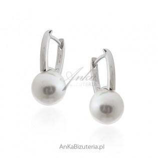 Kolczyki srebrne perełki - firmy Dall Acqua