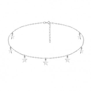 Choker srebrny gwiazdki - Modna biżuteria srebrna