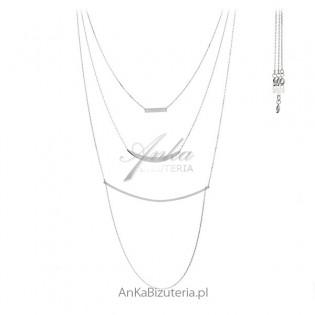Naszyjnik srebrny 3 w 1  - Biżuteria modułowa na kilka sposobów