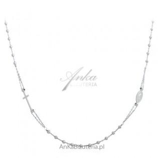 Biżuteria srebrna Naszyjnik RÓŻANIEC