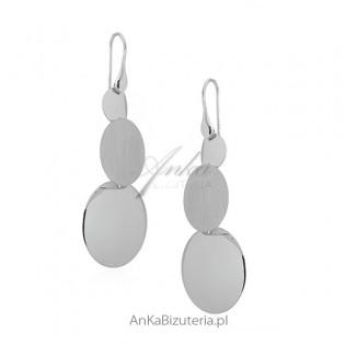 Oryginalne kolczyki srebrne - wiszące kolczyki  - biżuteria włoska