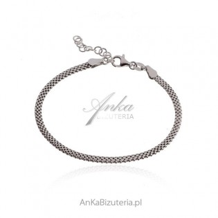 Bransoletka srebrna  włoska TULIPAN