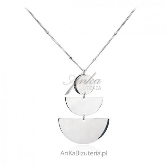 Srebrny naszyjnik  wiszący Modna biżuteria włoska