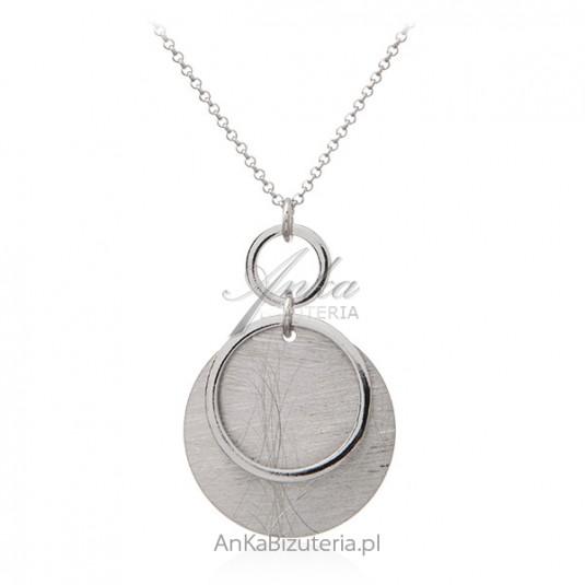 Naszyjnik srebrny satynowany kółeczka