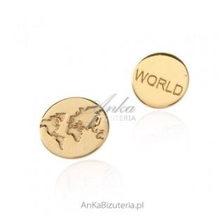 """Srebrne kolczyki pozłacane """"Around the World"""""""