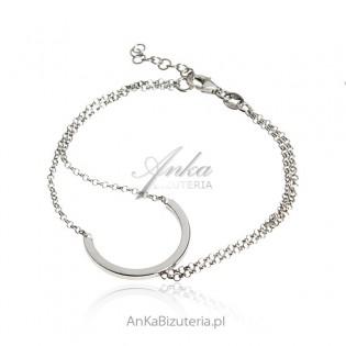 Srebrna bransoletka - oryginalna biżuteria srebrna